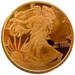 1 Oz Walking Liberty Coppe..