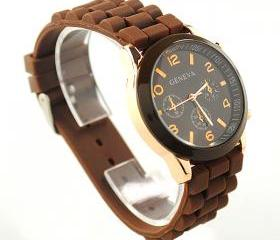 Brown Geneva Silicone Watch
